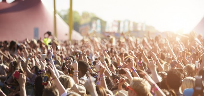 Audience At Outdoor Music Festival