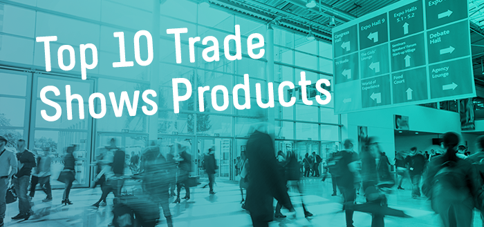 Here is our top 10 list over promotional products for trade shows